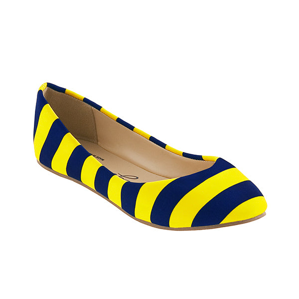 Dark Blue & Maize Flats