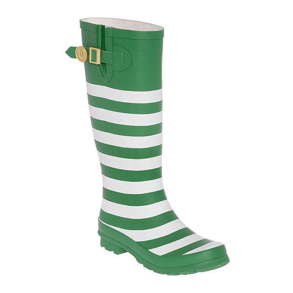 Kelly Green & White Rainboots