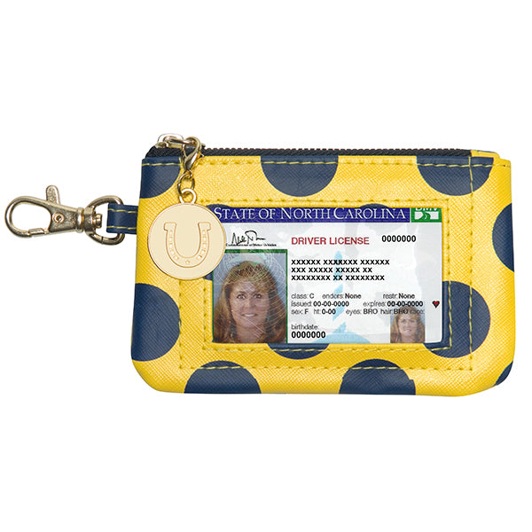 Dark Blue & Maize Gold ID Case - Lillybee Style