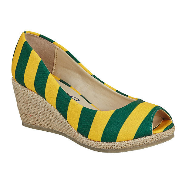 Green & Gold Wedges - Lillybee Style