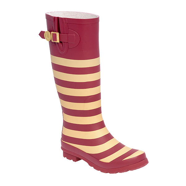 Garnet Old Gold & Striped Rainboots - Lillybee Style