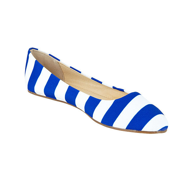 Royal Blue & White Flats - Lillybee Style