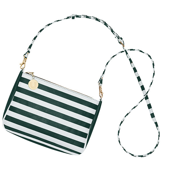 Dark Green and White Crossbody Bag - Lillybee Style