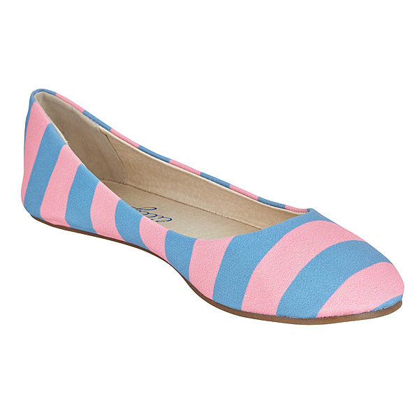 Pink & Gray Blue Flats - Lillybee Style