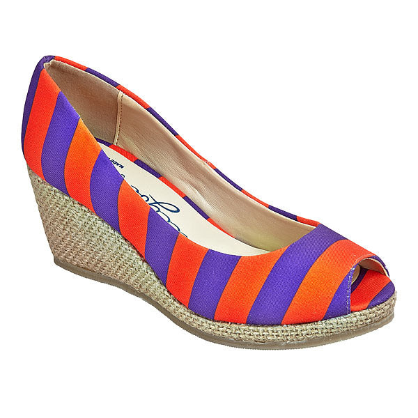 Purple & Orange Wedges - Lillybee Style
