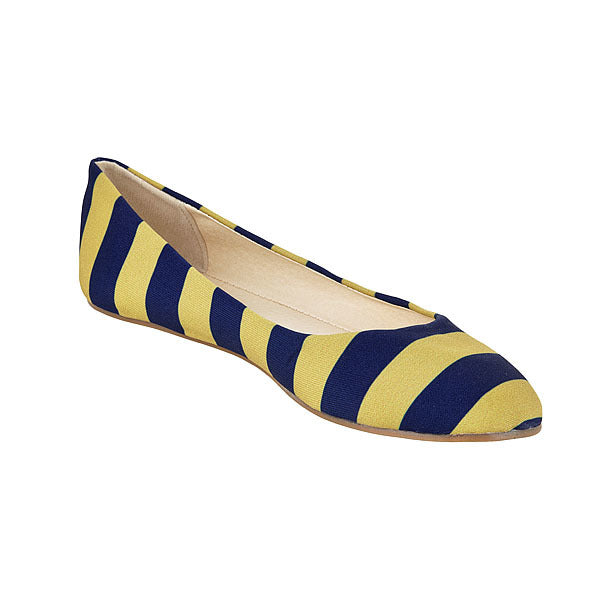 Dark Blue & Vegas Gold Flats