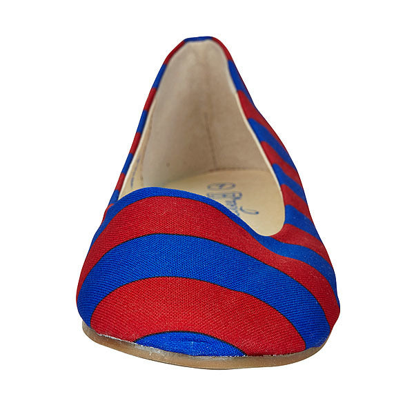 Royal Blue & Red Flats - Lillybee Style