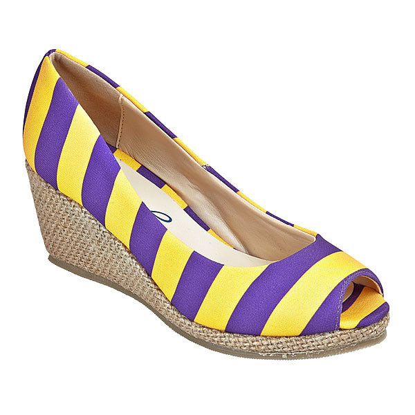 Purple & Gold Wedges - Lillybee Style