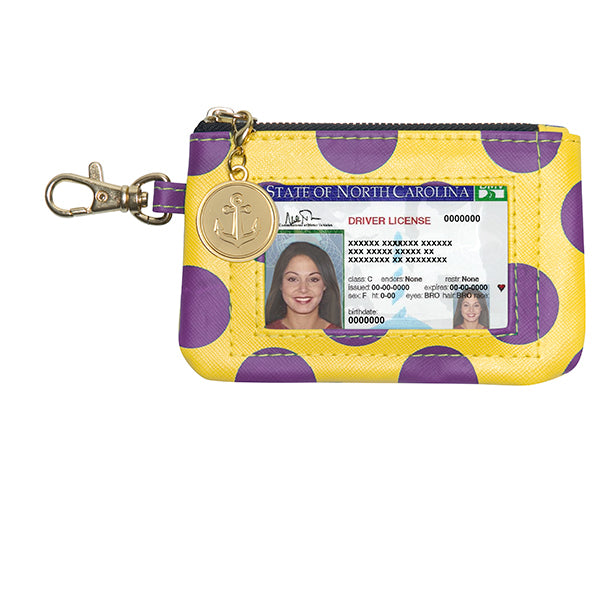 Purple & Gold ID Case