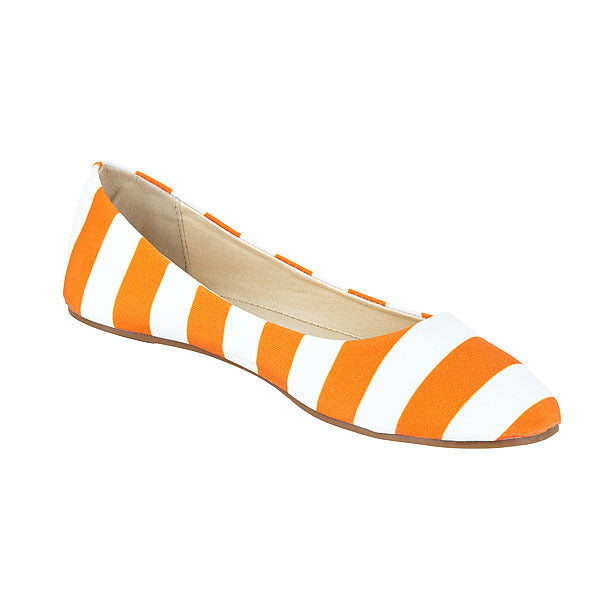 Bright Orange & White Flats - Lillybee Style