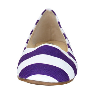 Purple & White Flats - Lillybee Style