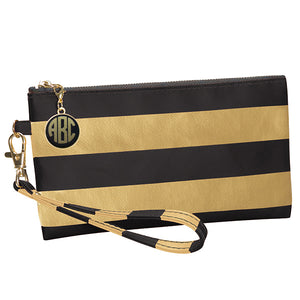 Black and Vegas Gold Wristlet - Lillybee Style