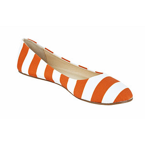 Burnt Orange & White Flats - Lillybee Style