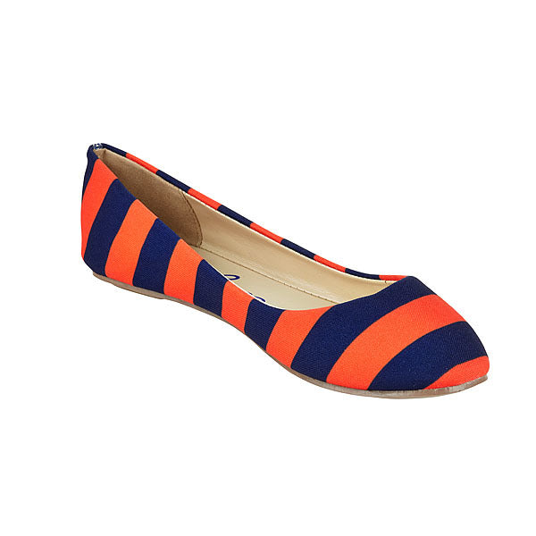 Dark Blue & Orange Flats