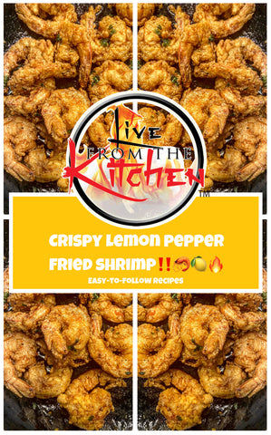 Crispy Lemon Pepper Fried Shrimp Recipe!