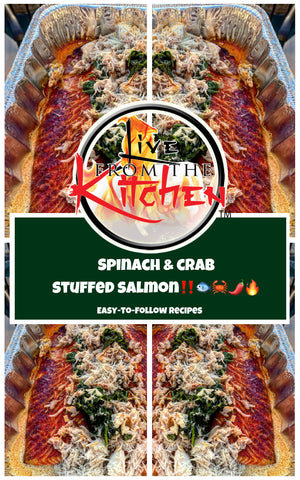 Spinach Crab Stuffed Salmon Recipe!
