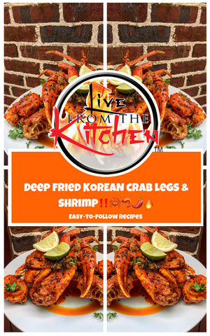 Deep Fried Korean Crab Legs & Shrimp!