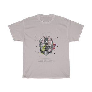Arelius Lucid Dreamin' II - Unisex Heavy Cotton Tee (In All Colors). Buy a T-Shirt and get either a Lucid Dreamin' OR Sleepwalker Compilation for FREE. Add the 2 items to your cart and enter code:- BFDTshirt+Music