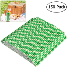 150kpl Biologisesti hajoava paperi Olki Bamboo Straws for Party Drinks Decoration