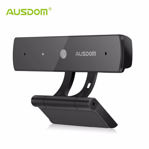 Ausdom AW625 Webcam 1080P Full HD USB-web-kamera Skype Web Cam -kameran Plug & Play -kamera, jossa on Mic Wide Screen -videokutsutallennus