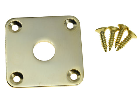 Flat Bottom Jack Plate Square Flat Base -levy, jossa on ruuvit LP Les Paul Guitars Goldille