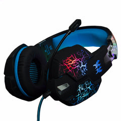 KOTION EACH Gaming Headset -kuulokkeen värähtelytoiminto Deep-bassokaiutin Surround-ääni LED-valomikrofoni PS4 PC pro Gamerille