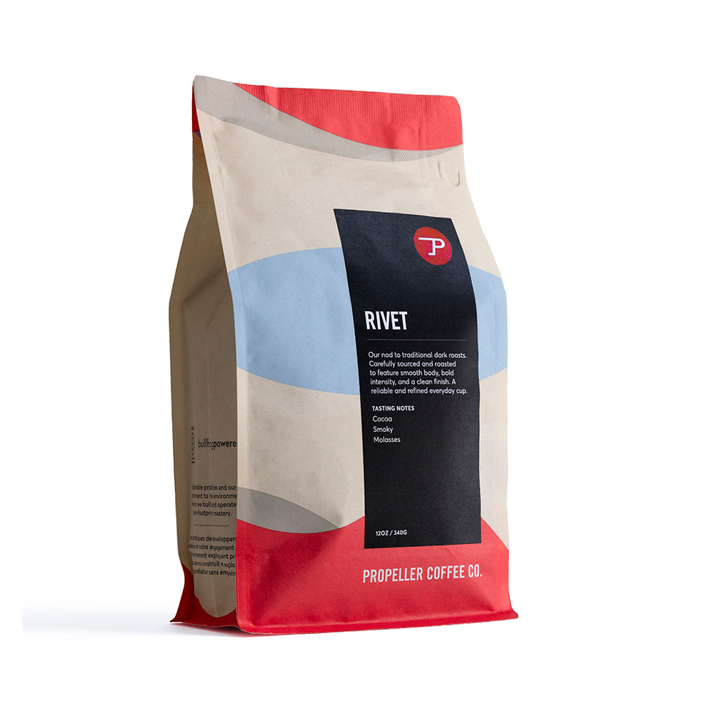 Rivet Extra Dark Roast Retail 12oz & 5lb