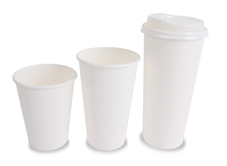 White Hot Beverage Cups (Various Sizes)
