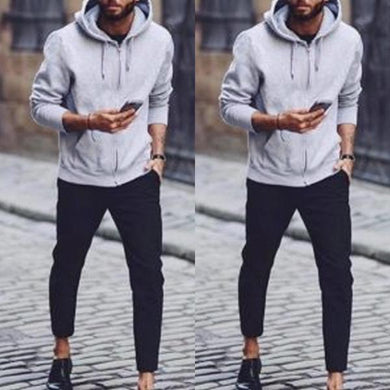 Solid Color Loose Long Sleeve Hoodie