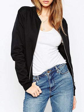 Slit Pocket Zipper  Plain Jackets