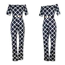 Load image into Gallery viewer, Sexy Slim Printed Jumpsuit With Belt