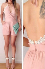 Load image into Gallery viewer, Lace Halter Sexy Jumpsuit