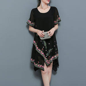 Elegant Floral Printed Shift Dress