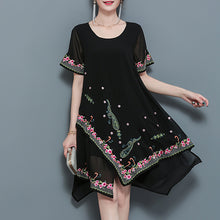 Load image into Gallery viewer, Elegant Floral Printed Shift Dress
