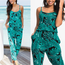Load image into Gallery viewer, Beach Strap V-Neck Printed Jumpsuit