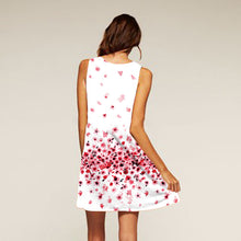 Load image into Gallery viewer, Sleeveless Digital Floral Printed Strap Vacation Dress