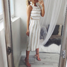 Load image into Gallery viewer, Classic Stripe Sleeveless Elegant Jumpsuit