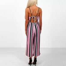 Load image into Gallery viewer, Classic Stripe Straps Elegant Jumpsuit