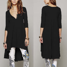 Load image into Gallery viewer, Stylish Irregular Hem Casual Shift Dress