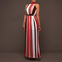 Load image into Gallery viewer, Sexy Stripe Printed Sleeveless Bandage Jumpsuit
