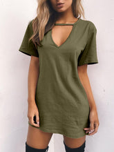 Load image into Gallery viewer, Round Neck  Plain Shift Dresses