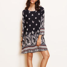 Load image into Gallery viewer, Bohemia Style Floral Printed Shift Dress