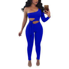 Load image into Gallery viewer, Sexy Single Sleeve Strapless Slim Jumpsuit With Belt