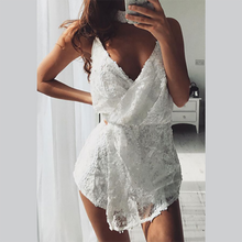 Load image into Gallery viewer, Sexy Lace Pure Color Strap Jumpsuit