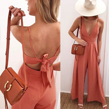 Load image into Gallery viewer, Backless Sexy V Collar Sleeveless Jumpsuit