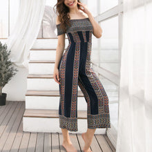 Load image into Gallery viewer, Bohemian Off-Shoulder Printing Jumpsuit