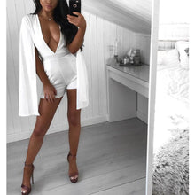 Load image into Gallery viewer, Sexy Deep V Collar Solid Color Sleeveless Short Jumpsuit