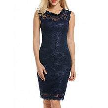 Load image into Gallery viewer, 2018 New Elegant Lace Sleeveless Bodycon Dress