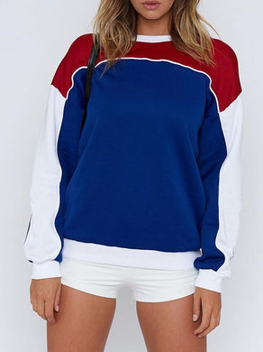 Casual Fashion Colorblock Long Sleeve Shirt