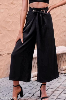 Loose Fitting  Plain Casual Pants